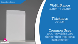 Watch a short video on Recyclable Corrugated Paper Envelopes