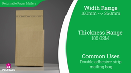 Watch a short video on Recyclable Paper Envelopes with Gusset - Double Strip