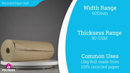 Watch a short video on Recycled Paper Rolls