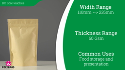 Watch a short video on Recycled Stand-Up Pouches with Window