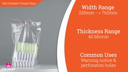 Watch a short video about our Peel and Seal Safety Bags