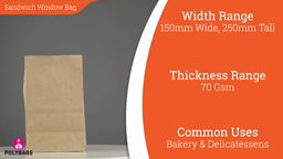 Watch a short video on sandwich bags with window