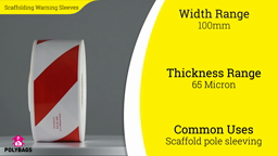 Watch a short video about our Scaffolding Warning Sleeves