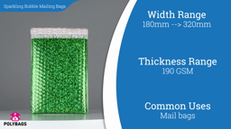 Watch a video on Sparkling Bubble Mailing Bags