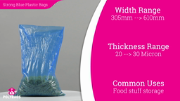 Watch a short video about our Blue Tint High Tensile polythene bags