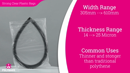 Watch a short video about our Clear High Tensile polythene bags