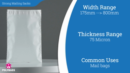 Watch a short video about our Mailtuf Strong Despatch Mailing Sacks