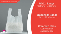 Watch a short video about our Supreme High Tensile White Vest Carrier bags