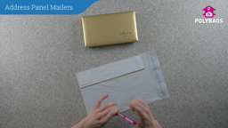 How to use white plastic mailers with address panel