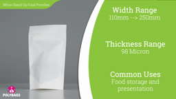 Watch a short video about our Viva White Stand-Up Food Pouches
