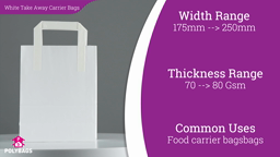 Watch a short video about our White Take Away Carrier bags
