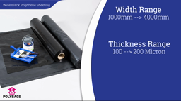 Watch a short video about our Wide Black Polythene Sheeting